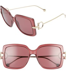 women's salvatore ferragamo gancio 55mm square sunglasses -