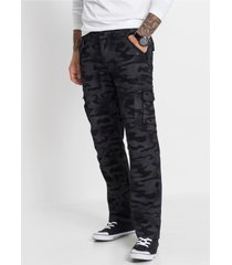 baggy fit cargo broek, straight