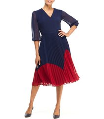 women's maggy london chiffon fit & flare dress