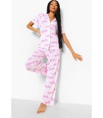 mix & match barbie pyjama broek, pink