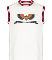 phipps patriot ringer sleeveless tank top - white