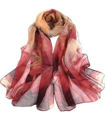 lenço artestore aquarelado echarpe xale feminina