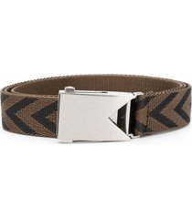 bottega veneta chevron belt - green