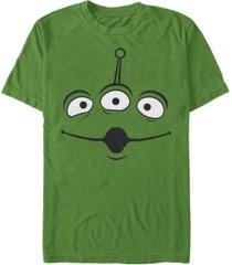disney pixar men's toy story alien big face costume short sleeve t-shirt