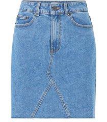 jeanskjol objpenny hw denim skirt