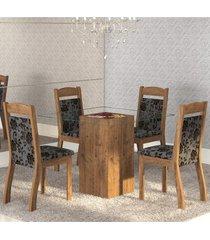 mesa de jantar 4 lugares break dover/cobre - mobilarte móveis