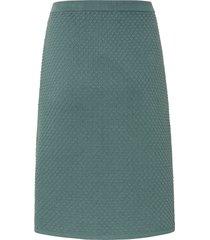 gebreide rok van peter hahn groen