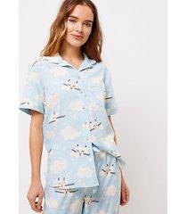 loft cloud kitty pajama top