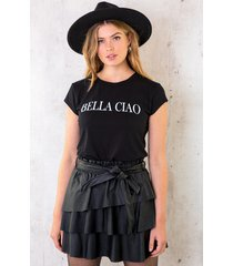 bella ciao top zwart