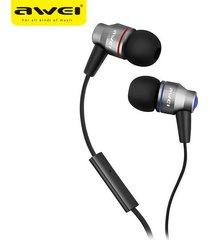 audífonos bluetooth manos llibres, awei es-800i in-ear stereo con micrófono marca profesional auricular (plata)