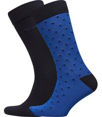 2-pack solid and dot socks underwear socks regular socks blå gant