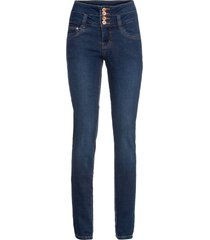 jeans a vita alta con abbottonatura (blu) - rainbow