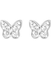 orecchini farfalla in argento e zirconi per donna