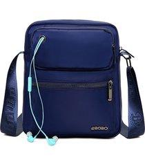 uomo nylon spalla multitasca impermeabile a grande capacità borsa tracolla borsa