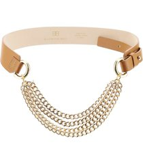 b-low the belt mavis leather belt with chains