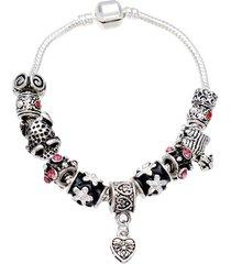 braccialetto d'argento placcato argento 925 dei branelli di vetro tibetano