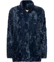 minimal. outerwear faux fur blauw tiger of sweden jeans
