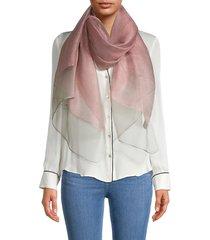 saachi women's silk chiffon scarf - pink