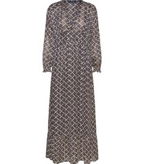 sheer feminine maxi dress with allover print maxi dress galajurk zwart scotch & soda