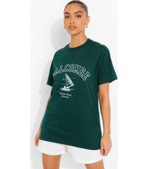 salcombe t-shirt, bottle green