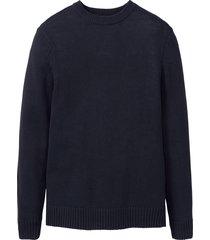 pullover con cotone riciclato regular fit (blu) - john baner jeanswear