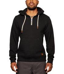 men's fundamental coast slater quarter zip hoodie, size xx-large - black