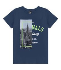camiseta decoy adulto masculino estampada azul