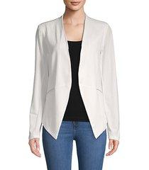 asymmetrical hem open-front blazer