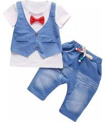 niños conjuntos pantalones camisa