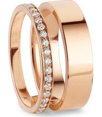 'berbère' diamond rose gold ring