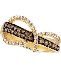 le vian chocolatier diamond statement ring (1/2 ct. t.w.) in 14k gold