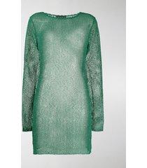 alanui sheer knitted dress