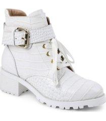 bcbgeneration women's nubi combat bootie women's shoes
