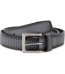 pga tour men's perforated leather belt - grey - size 36