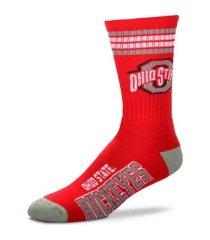 for bare feet ohio state buckeyes youth 4 stripe deuce crew socks