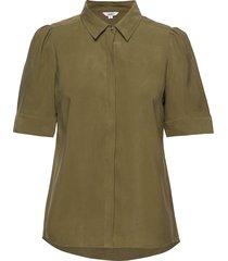 shanell blouses short-sleeved groen mbym