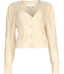 vest met kabelpatroon everly  naturel