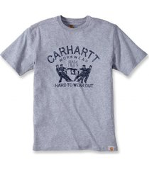carhartt t-shirt men hard to wear out s/s heather grey-s