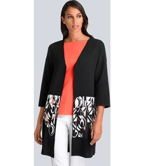 vest alba moda zwart::wit::oranje