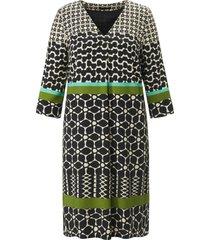 jurk splitje in de 3/4-mouwen van emilia lay zwart