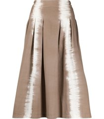 msgm tie-dye a-line skirt - neutrals