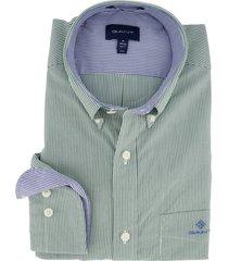 gant regular fit overhemd gestreept groen
