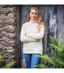 the kilcar aran sweater cream xl