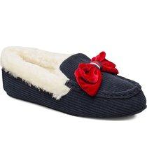 tommy cozy moccassin slipper slippers tofflor blå tommy hilfiger