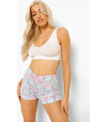 mix & match flamingo kerst pyjama shorts, blue