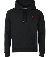 classic ami de coeur hoodie, noir black