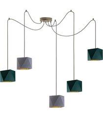 geometryczna lampa wisząca kano gold d5