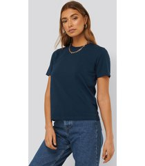 na-kd basic bas-t-shirt - blue