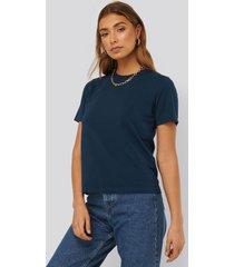 na-kd basic bas-t-shirt - blue