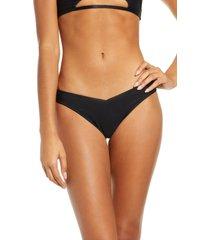 women's frankies bikinis enzo bikini bottoms, size medium - black